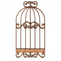 Bird Cage MDF Wood Shape - Style 6