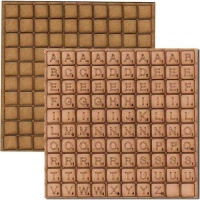 Sheet of MDF Scrabble Tiles