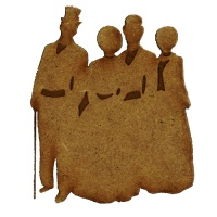 Christmas Carol Singers Group 1 - MDF Wood Shape