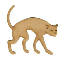 Creeping Cat - MDF Wood Shape