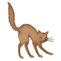 Cat with Arched Back - MDF Wood Shape