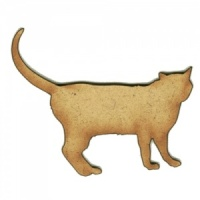 Walking Cat MDF Wood Shape Style 31