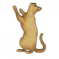 Playful Cat Silhouette - MDF Wood Shape