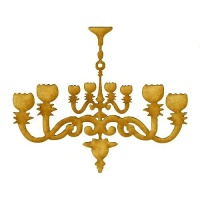 Chandelier MDF Wood Shape - Style 4