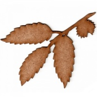 Chestnut Leaf and Twig MDF Wood Shape