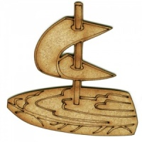 Toy Sailing Boat MDF Wood Shape
