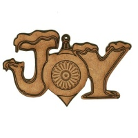 Joy Bauble - MDF Wood Shape