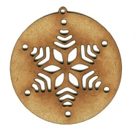 Snowflake Starburst Bauble - MDF Wood Shape