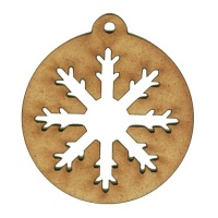 Snowflake Pop Out Bauble - MDF Wood Shape