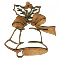 Christmas Bell MDF Wood Shape - Style 1