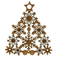 Snowflake Christmas Tree - MDF Lace Cut Bauble