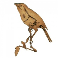 Robin Perching on Twig - MDF Bird Wood Shape