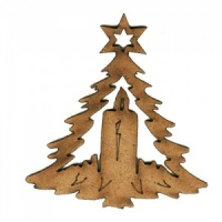 Christmas Tree Ornament MDF Wood Shape