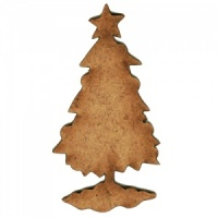 Christmas Tree MDF Wood Shape Style 3