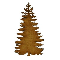 Winter Fir Tree - MDF Wood Shape