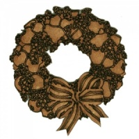 Seasonal Fruit Wreath with Bow - MDF Wood Shape