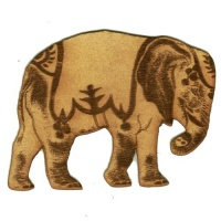 Circus Elephant - MDF Wood Shape