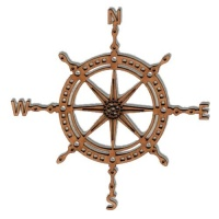 Ships Wheel Compass - MDF Wood Shape