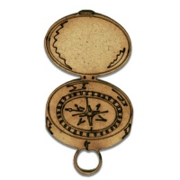 Pocket Compass MDF Wood Shape