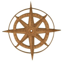 Compass MDF Wood Shape