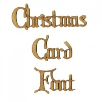 Christmas Card MDF Wood Font - Create A Word - Max 4 Letters