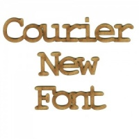 Courier MDF Wood Font - Create A Word - Max 4 Letters