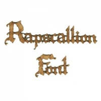 Rapscallion MDF Wood Font - Create A Word - Max 12 Letters