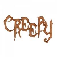 creepy halloween mdf wood word