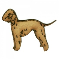 Bedlington Terrier - MDF Wood Dog Shape