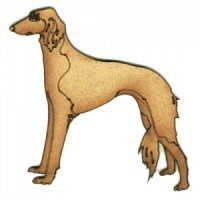 Saluki - MDF Wood Dog Shape