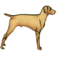Weimaraner - MDF Wood Dog Shape
