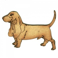 Basset Hound MDF Wood Dog Shape Style 28