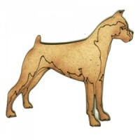 Boxer - MDF Wood Dog Shape