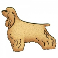 Cocker Spaniel MDF Wood Dog Shape Style 32