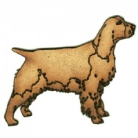 Springer Spaniel MDF Wood Dog Shape Style 34