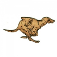 Racing Greyhound - MDF Wood Dog Shape