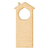 House Shape MDF Wood Door Hanger - Style 05