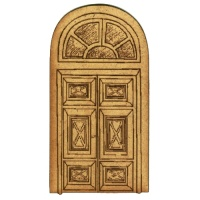 Panelled Door with Arched Windows - MDF Wood Shape