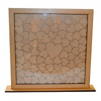 MDF Drop Box Frame with Hearts - Style 1