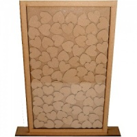 MDF Drop Box Frame with hearts - Style 2
