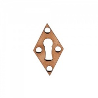 Diamond Keyhole Escutcheon MDF Wood Shape x 2