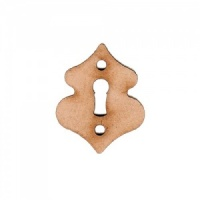 Wave Keyhole Escutcheon MDF Wood Shape x 2