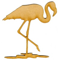 Flamingo MDF Wood Bird Shape