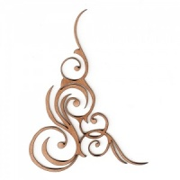 Swirly Curly Flourish MDF Wood Shape