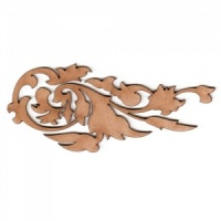 Baroque Leaf Flourish MDF Wood Shape
