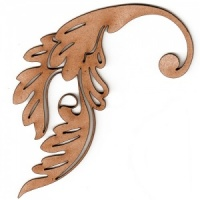 Curled Leaf Flourish MDF Wood Shape