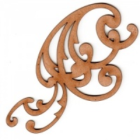 Swirl Flourish MDF Wood Shape