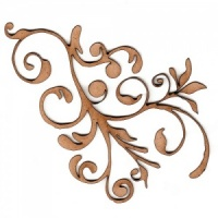 Curled Vine Fancy Flourish MDF Wood Shape - Style 1