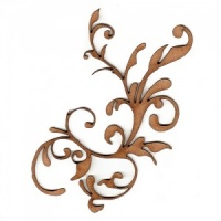 Curled Vine Fancy Flourish MDF Wood Shape - Style 3