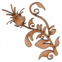 Fancy Flower Flourish MDF Wood Shape - Style 1